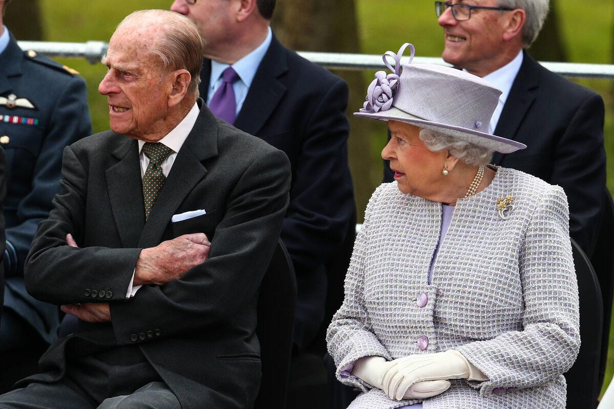 Królowa Elżbieta i książę Filip w 2017 roku