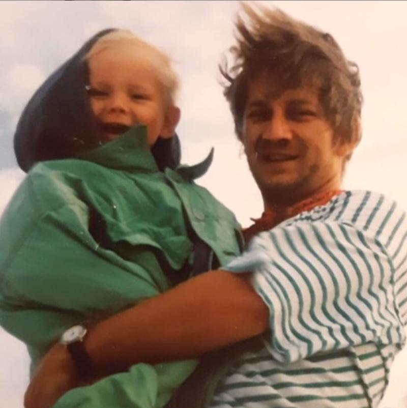Antoni Królikowski z ojcem, Pawłem Królikowskim