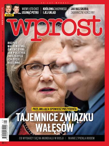 Okładka tygodnika Wprost nr 41/2017 (1806)