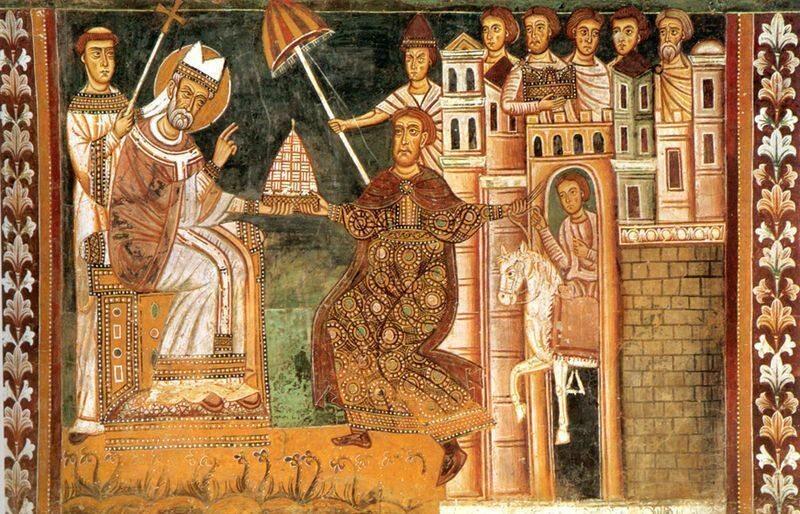 Sylwester I i Konstantyn Wielki
