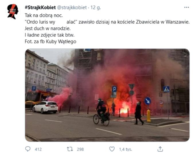Akcja przy placu Zbawiciela wWarszawie
