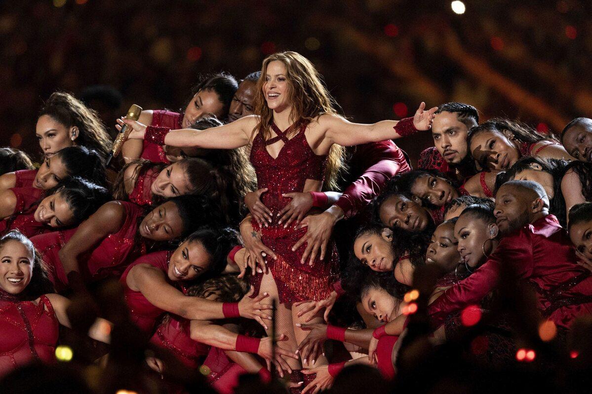 Shakira w trakcie Super Bowl