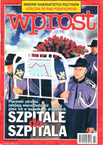Okładka tygodnika Wprost nr 32/2001 (976)