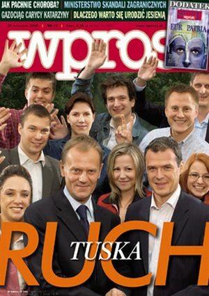 Okładka tygodnika Wprost nr 38/2005 (1190)