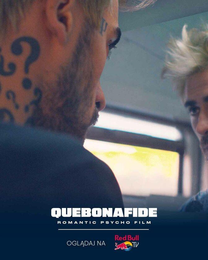 "Plakat produkcji ""Quebonafide: Romantic psycho film"""