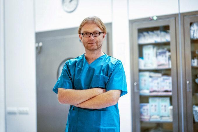 Dr n. med.  Michał Spychalski zeSzpitala Specjalistycznego wBrzezinach