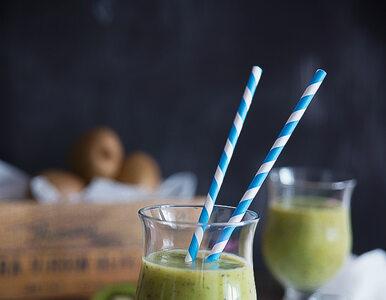 Zielony koktajl kiwi