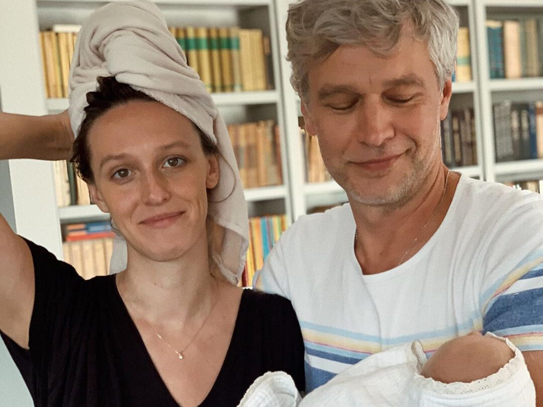 Aleksandra Żebrowska z mężem