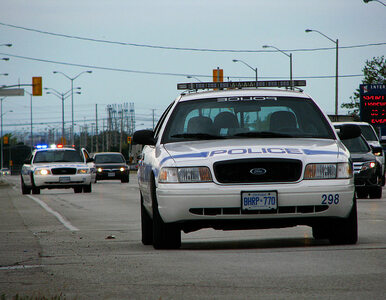 """""""Dziwaczny"""" wypadek w Kanadzie. Samochód z pięcioma golasami celowo..."""