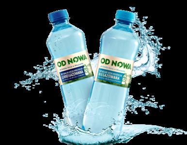 OD NOWA – naturalna woda od Żabki w butelce z materiałów w 100% z...