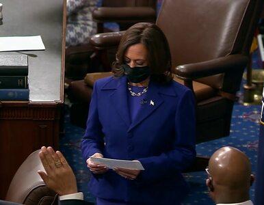 """""""Ok, to było dziwne"""". Kamala Harris w Senacie nie mogła powstrzymać śmiechu"""