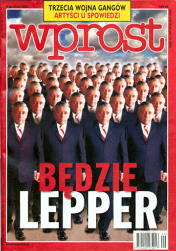 Okładka tygodnika Wprost nr 49/2001 (993)