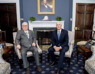 Lech Wałęsa spotkał się z wiceprezydentem USA. Mike Pence: To zaszczyt
