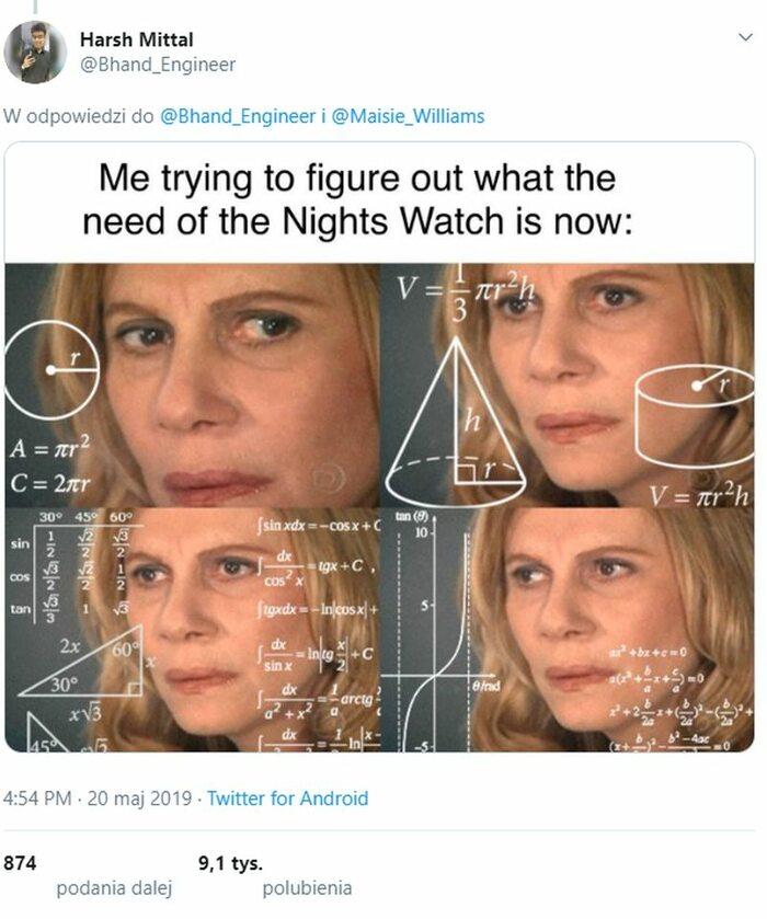 Ja usiłujący zrozumieć, do czego teraz potrzebna jest Nocna Straż