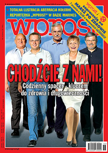 Okładka tygodnika Wprost nr 36/2002 (1032)