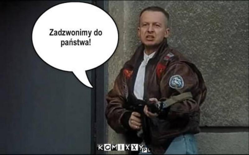 """Mem nawiązujący do filmu """"Psy"""""""