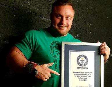 """Polski strongman pobił rekord Guinnessa! """"Myślałem, ze ścięgna strzelą..."""