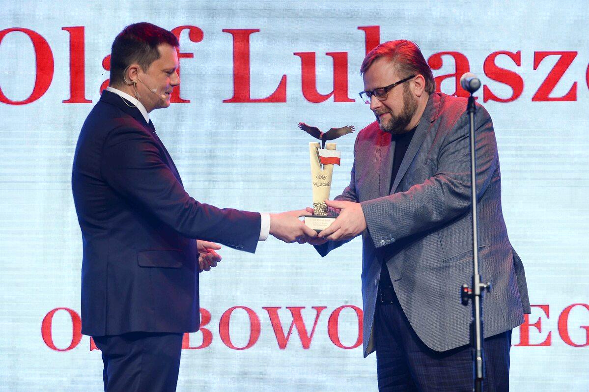 """Olaf Lubaszenko z nagrodą specjalną Orła """"Wprost"""""""