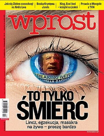Okładka tygodnika Wprost nr 44/2011 (1499)