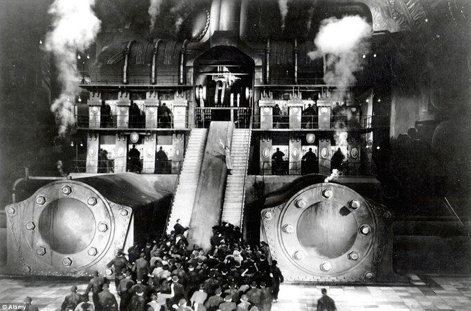 "Kadr zfilmu ""Metropolis"" (1927)"