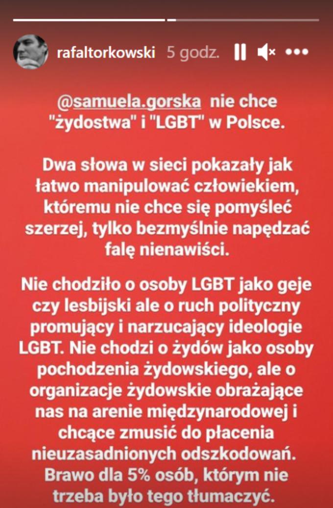 Wpis Rafała Torkowskiego