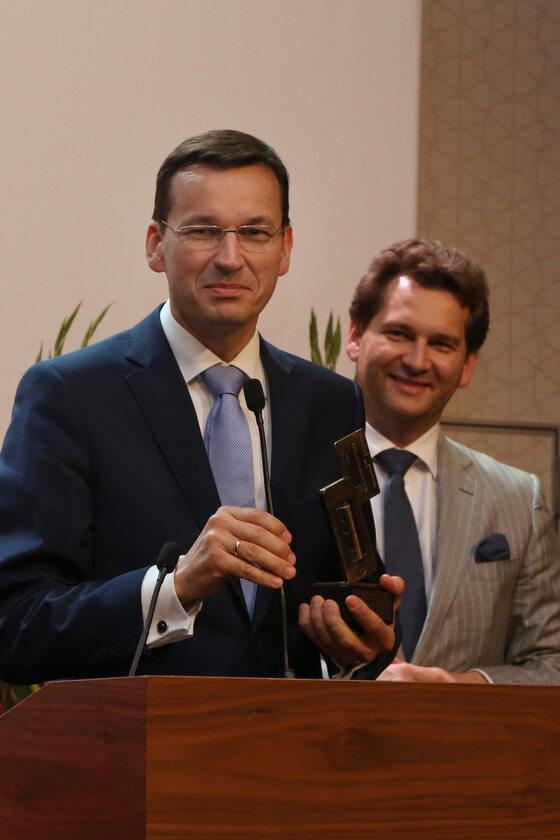 Prezes Zarządu BZ WBK - Mateusz Morawiecki oraz Michał M. Lisiecki - Wydawca Wprost