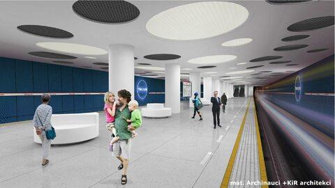 Wizualizacje nowych stacji stołecznego metra