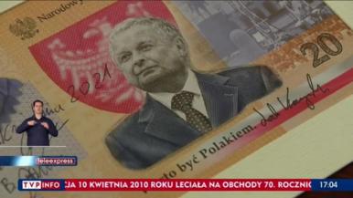 Banknot z Kaczyńskim jeszcze nie w obiegu, ale już w sprzedaży. 10 razy...
