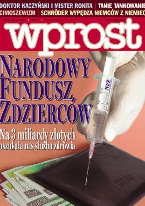 Okładka tygodnika Wprost nr 37/2005 (1189)
