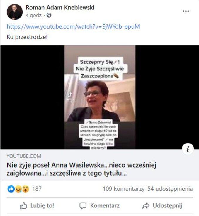 Post ks. Romana Kneblewskiego