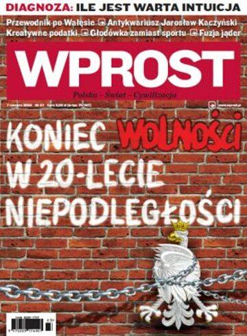 Okładka tygodnika Wprost nr 23/2009 (1378)