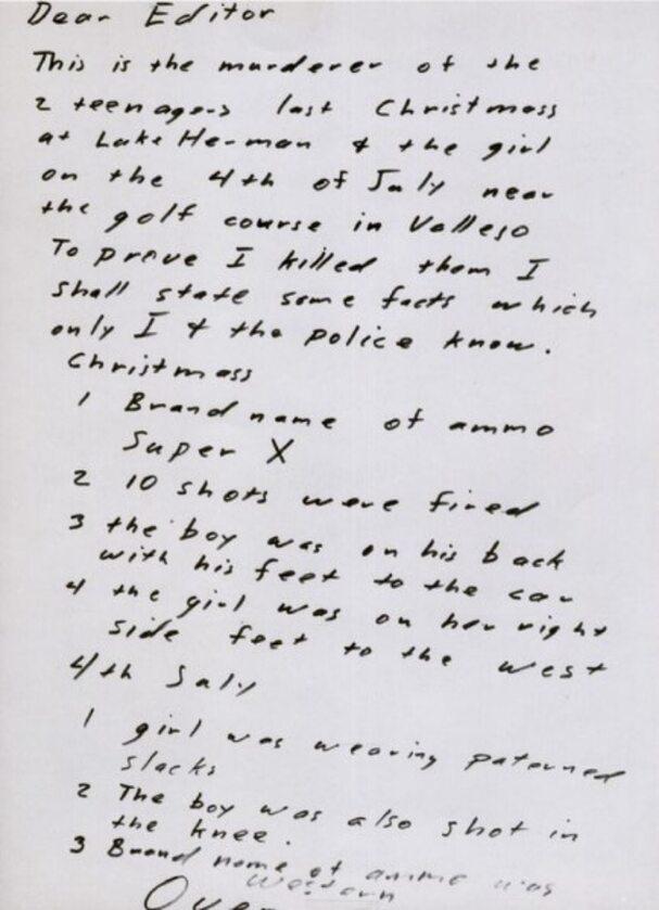 List, który Zodiak wysłał do San Francisco Chronicle 31 lipca 1969 roku
