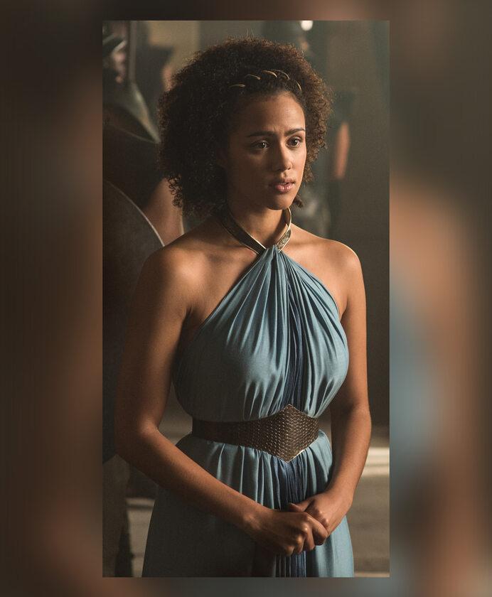 """Missandei po raz pierwszy w serialu """"Gra o tron"""" Postać grana jest przez Nathalie Emmanuel."""