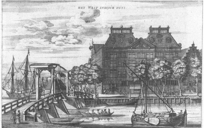 Siedziba Kompanii Zachodnioindyjskiej wAmsterdamie w1655r.