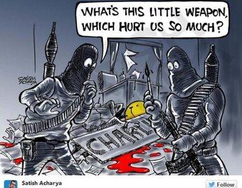 """Atak na """"Charlie Hebdo"""". Reakcje internautów"""