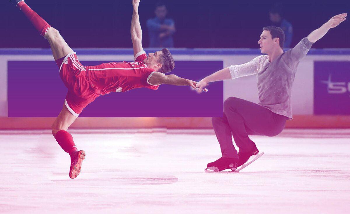 Lewandowski tańczy na lodzie
