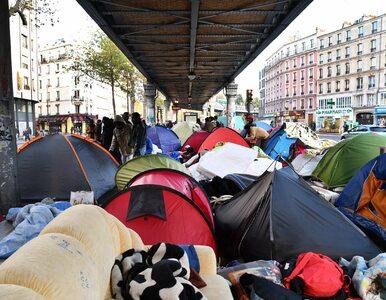 Francuzi likwidują namioty rozstawione przez imigrantów