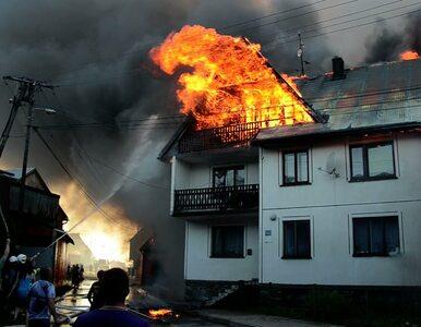 Ogromny pożar na Podhalu. Ponad 40 budynków w ogniu