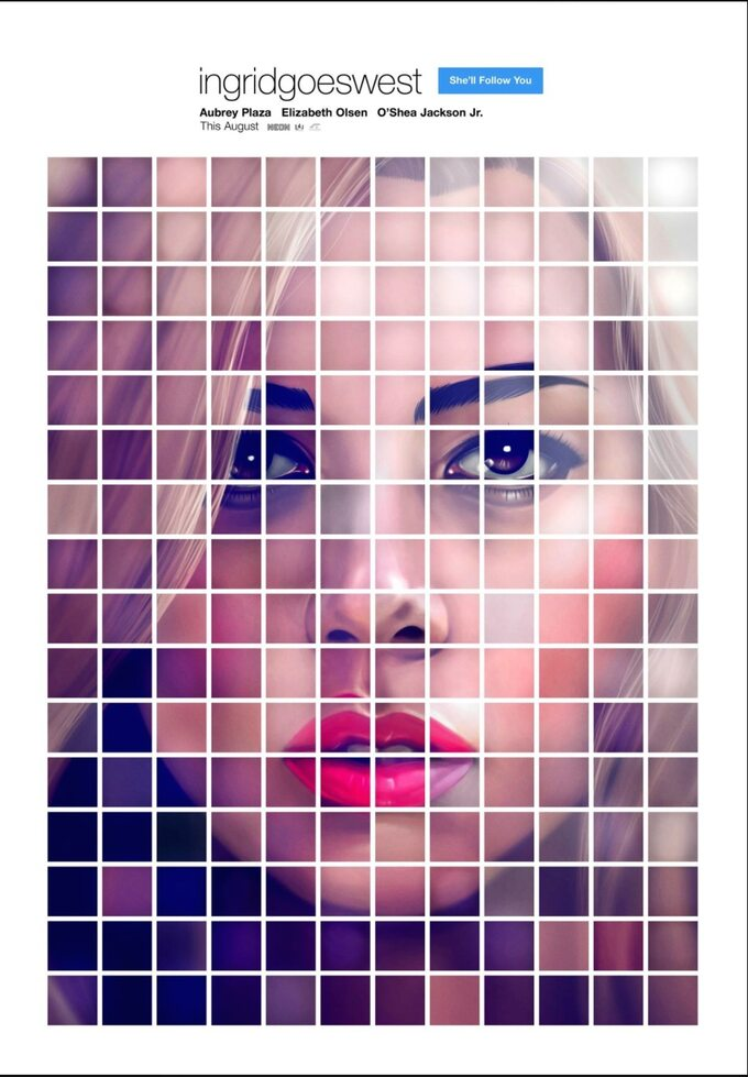 "plakat filmu ""Ingrid goes West"" (2017)"