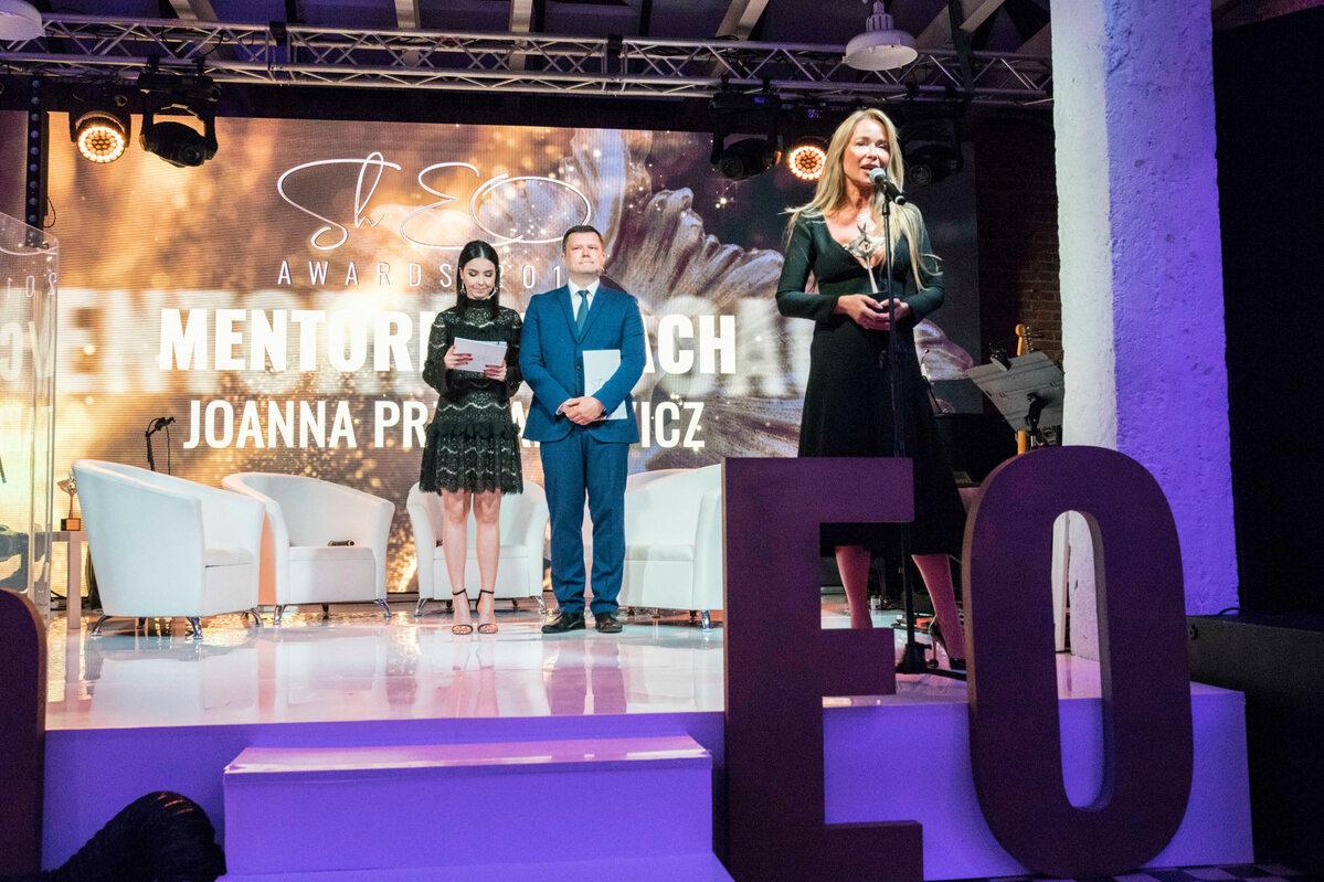 Joanna Przetakiewicz, laureatka nagrody Sheo Awards