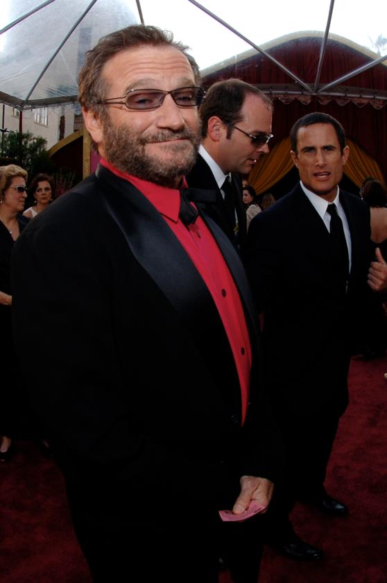 Robin Williams podczas 77. ceremonii rozdania Oscarów w 2005 roku