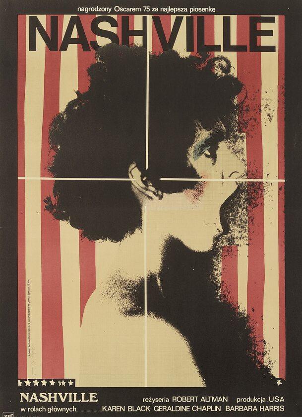 "Plakat Andrzeja Klimowskiego do filmu ""Nashville"""