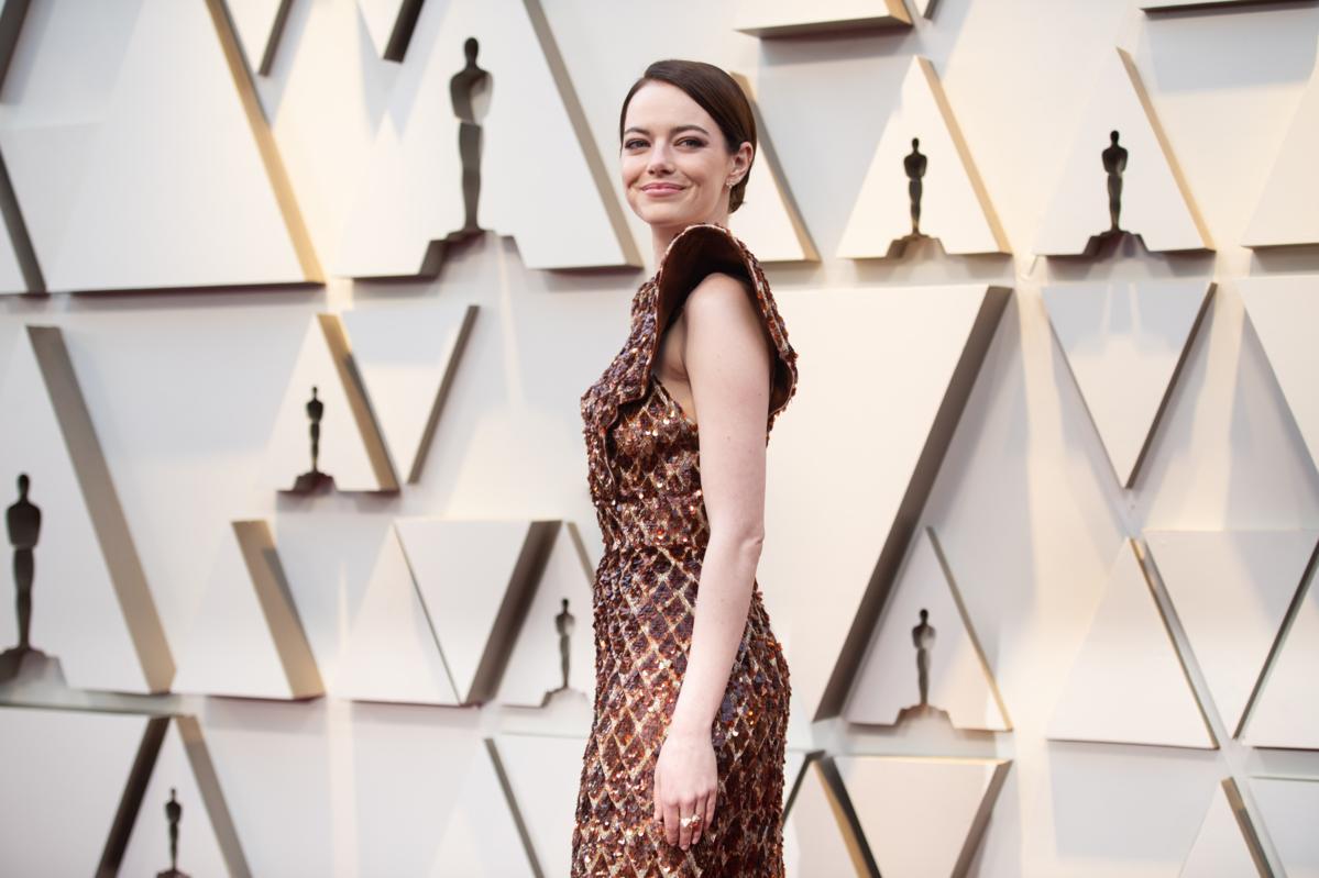 Emma Stone podczas 91. ceremonii rozdania Oscarów w 2019 roku
