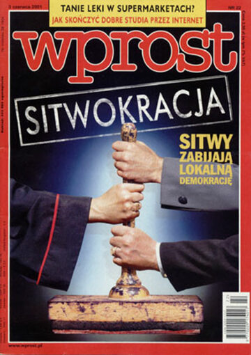Okładka tygodnika Wprost nr 22/2001 (966)