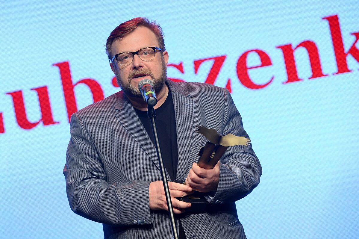 """Olaf Lubaszenko z Orłem """"Wprost"""""""