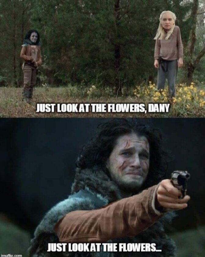Tylko spójrz na kwiatki, Dany...