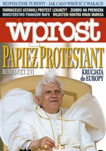 Okładka tygodnika Wprost nr 21/2006 (1224)