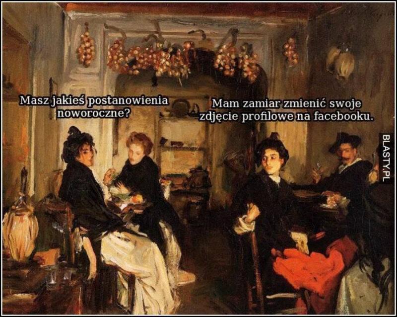 Memy o postanowieniach noworocznych
