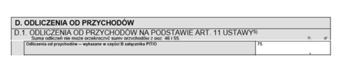 PIT-28 – formularz służący dorozliczenia ryczałtu odprzychodów ewidencjonowanych