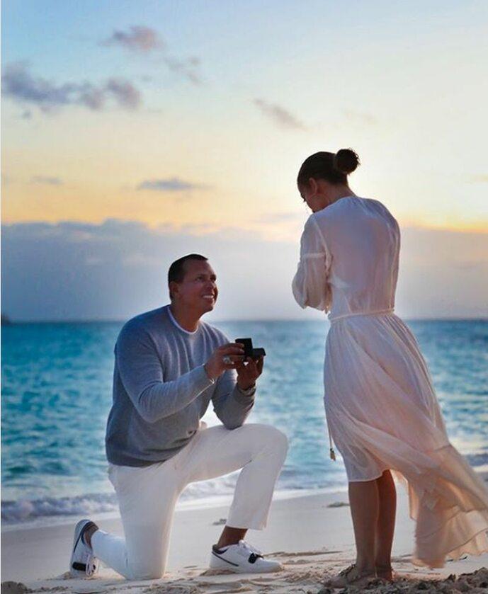 Zaręczyny Jennifer Lopez i Alexa Rodrigueza